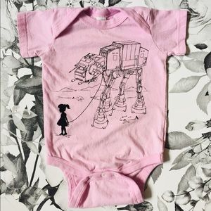 Other - Vintage Pink Starwars Onesie